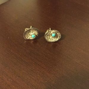 Melinda María earrings - sterling and turquoise